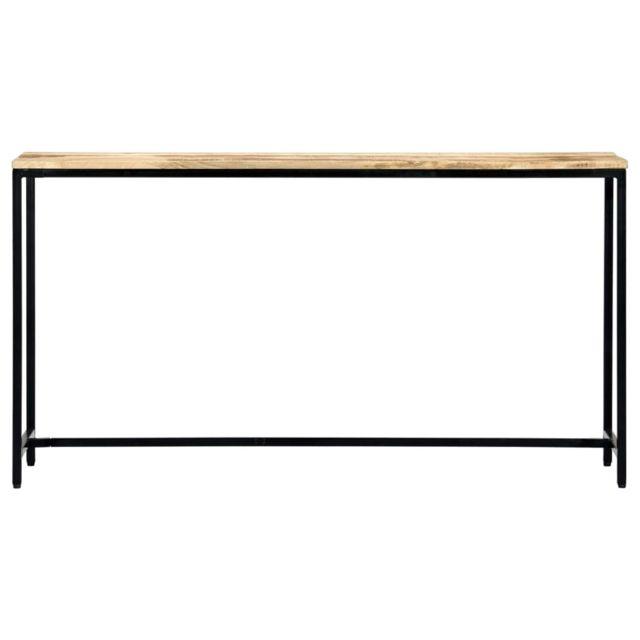 Icaverne - Tables d'appoint serie Table console 140 x 35 x 76 cm Bois de manguier massif brut