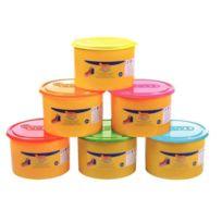 Jovi - pâte à jouer blandiver, couleur fluo - pack de 6 pots de 460 grammes