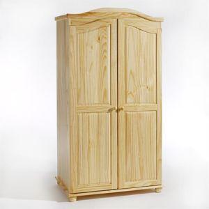 idimex armoire en pin 2 portes davos vernis naturel. Black Bedroom Furniture Sets. Home Design Ideas