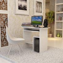 Rocambolesk - Superbe Bureau Informatique / Table Informatique Meuble de Bureau Pour Ordinateur blanc Lcd852W neuf