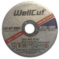 WellCut - Disque Abrasif Metal + Inox - Taille - Ø 125 mm 125 x 1,0 x 22,23