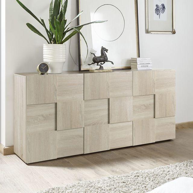 Sofamobili Buffet 180 cm couleur chêne clair Artic 3