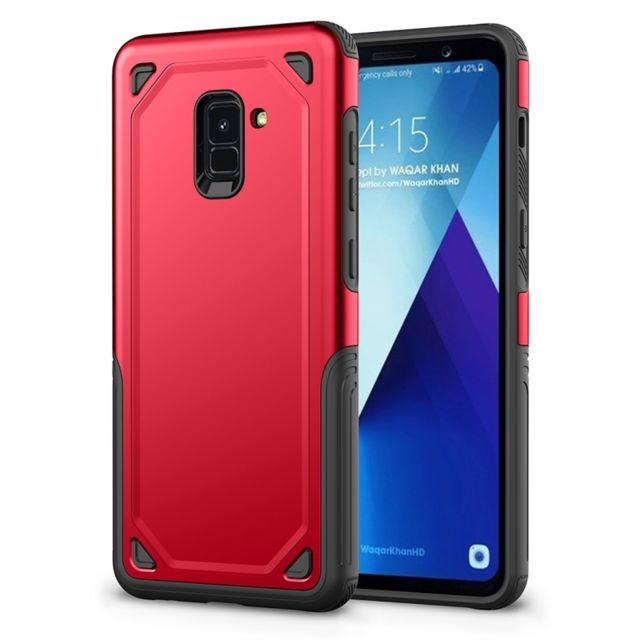 coque galaxy a8 2018 rouge