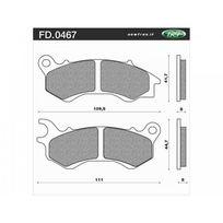 Newfren - Plaquette de Frein Fd0467 Be Organique Honda Pcx 125 Ww Honda