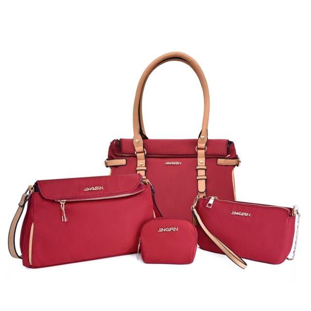 à vendre Braderie super pas cher Sacs à main Sac à Sing-épaule pour femmes en tissu Oxford 4 1 rouge