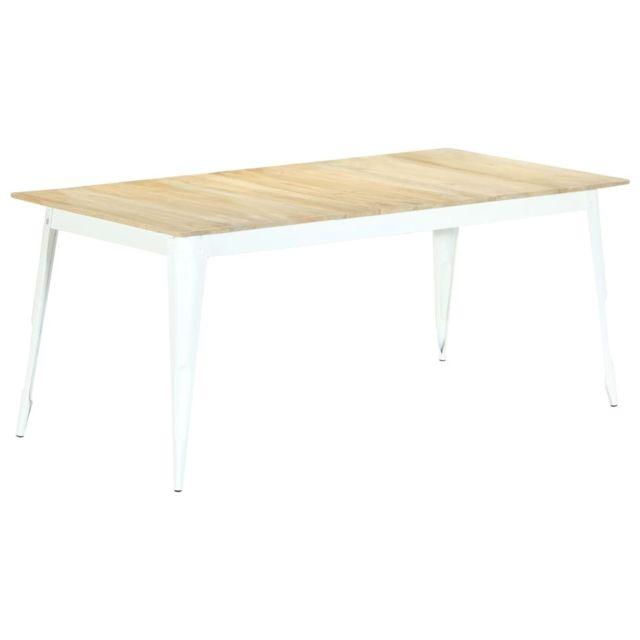 Admirable Tables selection Dakar Table de salle à manger 180x90x76 cm Bois de manguier massif