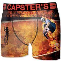 Capster'S Official - Boxer Homme Microfibre Ska Orange Noir