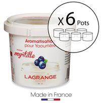 Lagrange - Lot de 6 pots d'aromatisation pour yaourts Myrtille