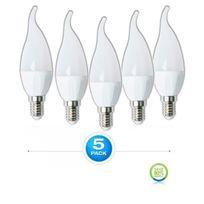 WAGS - Lot de 5 Ampoule LED E14 Flamme 4W eq 30W