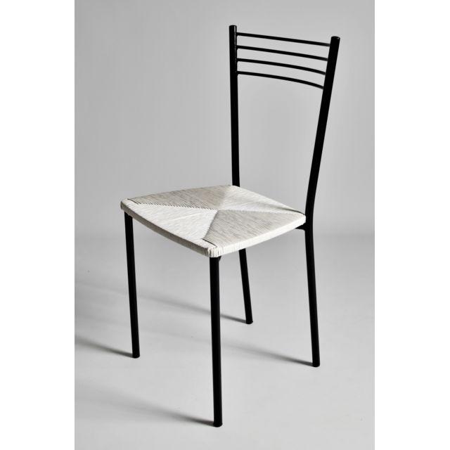 Chaise Paille Blanc