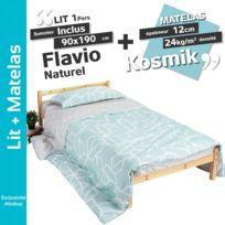 Dreamea - Lit Whitney - 90x190cm - Blanc + matelas Zeus 90x190 - pas ... a81f4b6cdd55