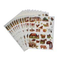 Maildor - gommette animaux ferme - blister de 336