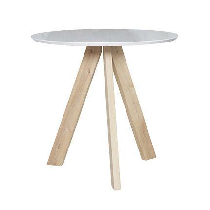 Table de bar diam 100cm Mdf et et chêne blanc