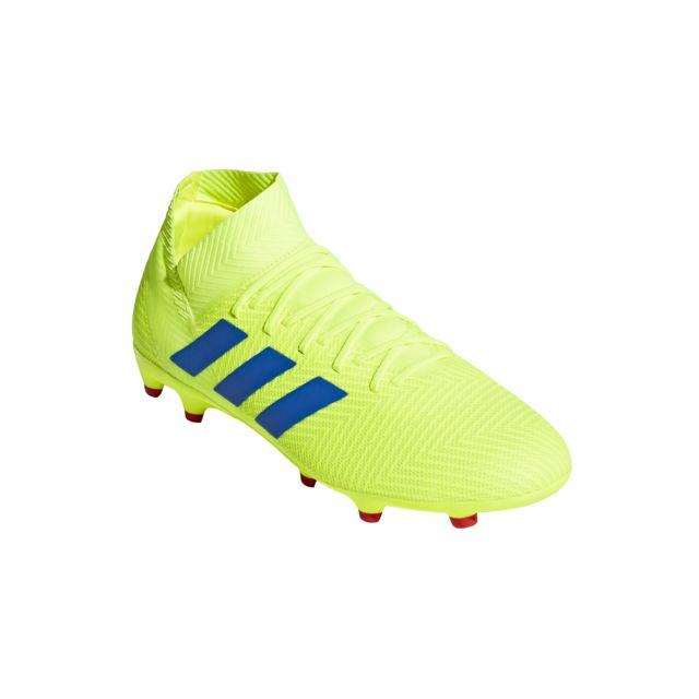 Chaussures de Foot adidas Nemeziz 18+ FG Homme Rose Blanc