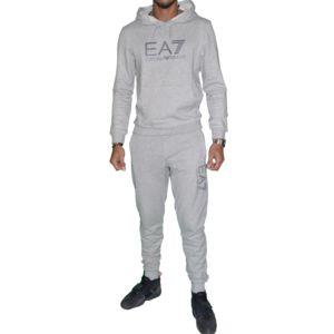 armani ea7 ensemble complet jogging homme ensemble visibility gris clair pas cher. Black Bedroom Furniture Sets. Home Design Ideas