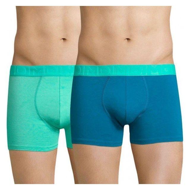7a5c404c33648 Dim - Lot de 2 Boxers Homme Coton Mixandfun Bleu océanique Vert printemps  TAILLE Homme L - pas cher Achat   Vente Boxers