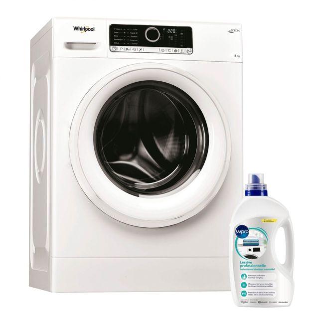 Whirlpool Lave Linge Frontal 8KG A+++ 1400trs/min Tambour 55L Moteur Zen Machine à laver hublot