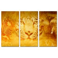 Declina - Triptyque sur toile imprim?e animaux sauvages - Boutique