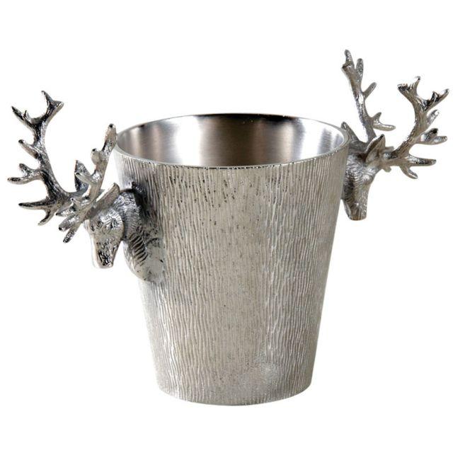 AUBRY GASPARD Seau à champagne cerf en aluminium