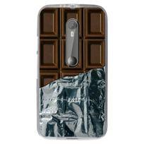 Kabiloo - Coque souple pour Motorola Moto G3 avec impression Motifs tablette de chocolat