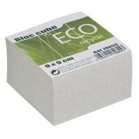 M Green - Bloc cube recyclé blanc 9x9x9 cm