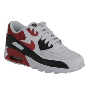 hot sale online 18ec8 16527 Nike Air Max 90 mesh GS 833418 107 white university red black pointure 35 1