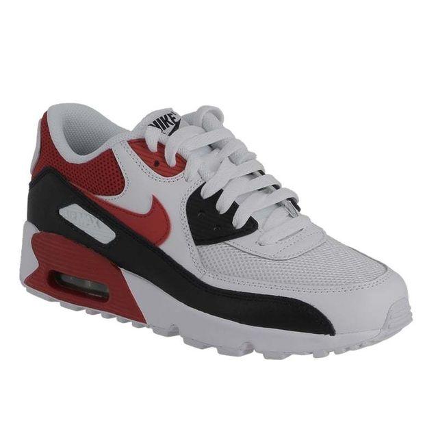 premium selection 9e77b a83c9 Nike - Air Max 90 mesh Gs 833418 107 white university red black - pas cher  Achat   Vente Baskets enfant - RueDuCommerce