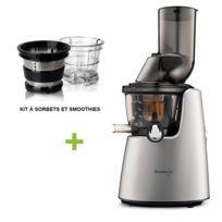 Kuvings - Pack promo C9500 Gris + Kit à smoothies et sorbets - Extracteur De Jus Vertical