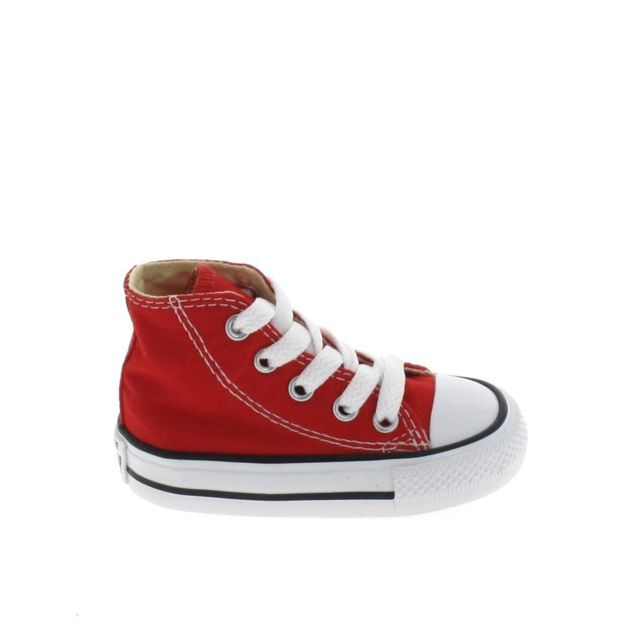 d9136404d78a2 Converse - All Star Hi Bb Rouge - pas cher Achat   Vente Baskets enfant -  RueDuCommerce