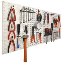Ose - Panneaux muraux de rangement pour outils + crochets - Gris