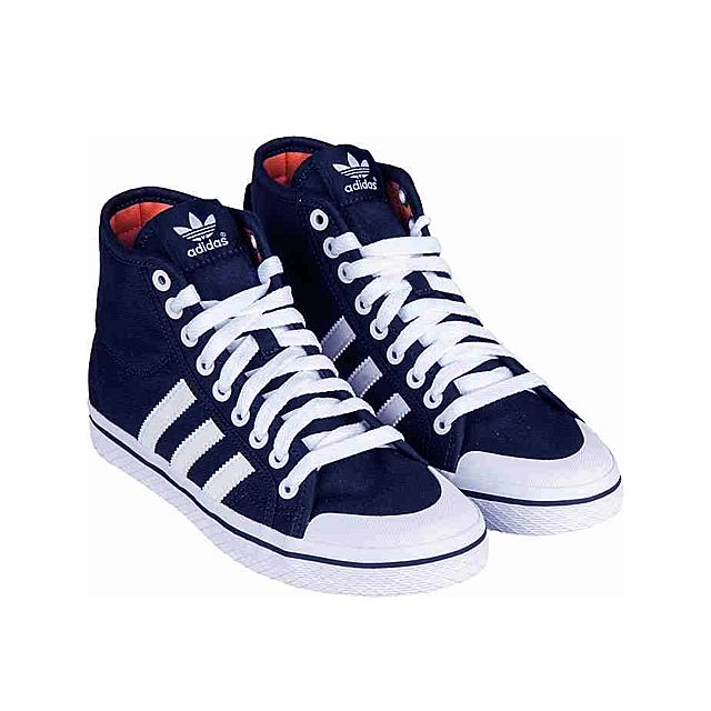 separation shoes 7e662 37290 Adidas - Originals-HONEY Stripes Mid W Marine-Blanc-Blanc D65497 - pas cher  Achat  Vente Baskets femme - RueDuCommerce