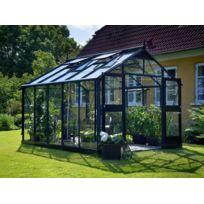 Habitat et Jardin - Serre verre Premium - Gris anthracite - 10,9 m² - 3,68 x 2,96 x 2,67 m