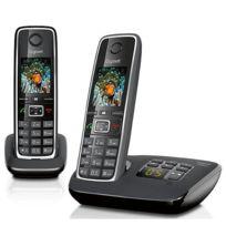 GIGASET - Téléphone fixe avec répondeur - C530 A - Duo Noir