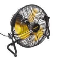 Stanley - Ventilateur 150 W Acier orientable 360° moteur 3 vitesses haute qualité