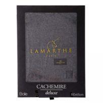 2d0cc3c9dd28 Lacoste - Echarpe foulard en laine vierge 100% gris jaspe clair ...