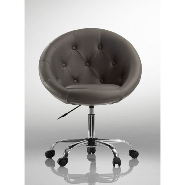 Autre Fauteuil lounge pivotant synthétique noir 1109033