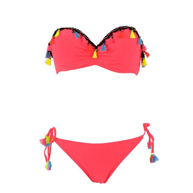 66daf28034764 Dagadom - Maillot de bain 2 pièces rose corail - pas cher Achat ...