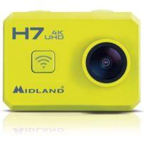 Midland - H7 Action Cam 4K avec Télécommande et Caisson Étanche