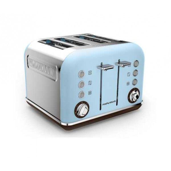 morphy richards grille pain 4 fentes 1800w accents pop bleu azur m242100ee pas cher achat. Black Bedroom Furniture Sets. Home Design Ideas