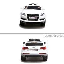 Audi - Voiture électrique enfant Q7 roues en gomme Eva 12V Blanc