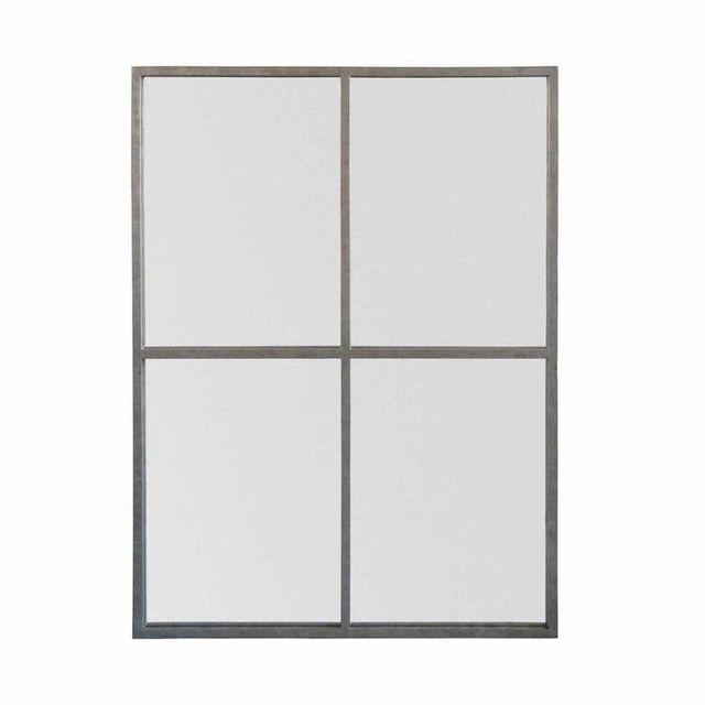 Emde Miroir fenêtre rectangulaire en métal 90x120cm Marcel - Zinc