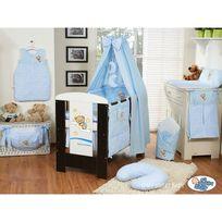 Autre - Lit et Parure de lit bébé bonne nuit bleu ciel de lit coton 120 60