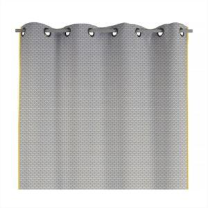 alin a jeanny rideau oeillets 140x250cm gris pas cher achat vente rideaux douche. Black Bedroom Furniture Sets. Home Design Ideas