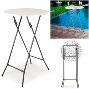 idmarket table haute de bar pliante mange debout pas cher achat vente tables de jardin. Black Bedroom Furniture Sets. Home Design Ideas