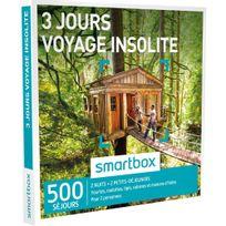 Smartbox - 3 jours voyage insolite - 550 séjours partout en France ou en Europe : yourtes, roulottes, tipis, cabanes et maisons dhôtes - Coffret Cadeau