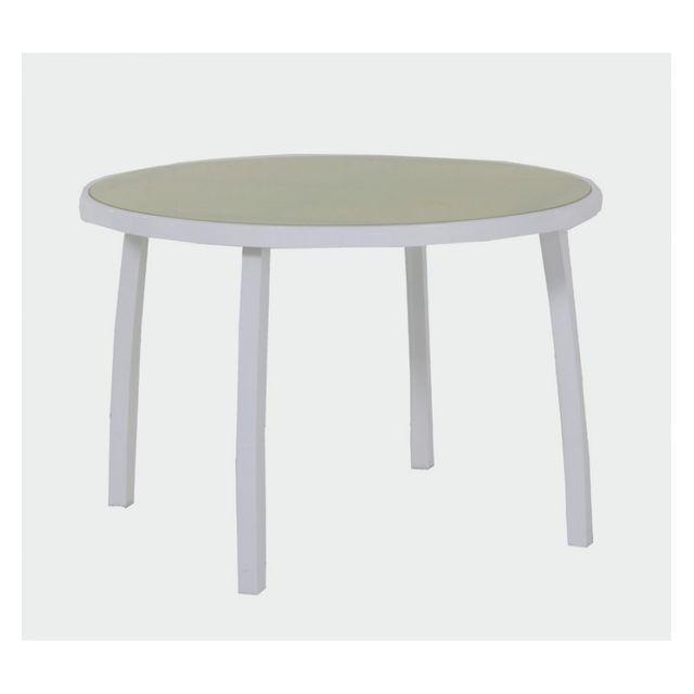 Hespéride Table d'extérieur ronde Montezalo vert anis
