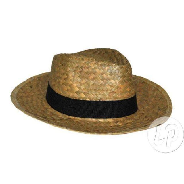 bca6f87c7bc9f Coolminiprix - Lot de 3 - Chapeau style panama en paille avec bandeau  nature - Qualité - pas cher Achat / Vente Articles de fête - RueDuCommerce