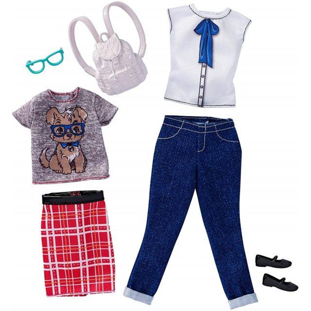 Otto - Set de 2 Habits Barbie   Tenue Jupe Et T-shirt Et Pantalon Et ... 7a7f9f40b83c