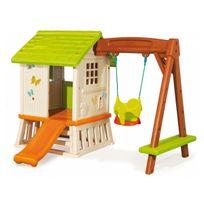 cabane enfant toboggan achat cabane enfant toboggan pas cher rue du commerce. Black Bedroom Furniture Sets. Home Design Ideas