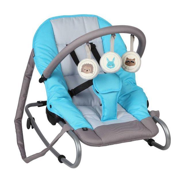 TEX BABY Transat bébé avec arche de jeux Optez pour ce transat avec arche de jeux amovibles, vous pourrez, en un tour de main transformer ce transat en balancelle. Pliage extraplat. Utilisable de la naissance à 9 kg.